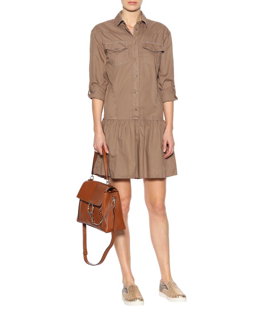 Brunello Cucinelli Verziertes Hemdblusenkleid aus Baumwolle
