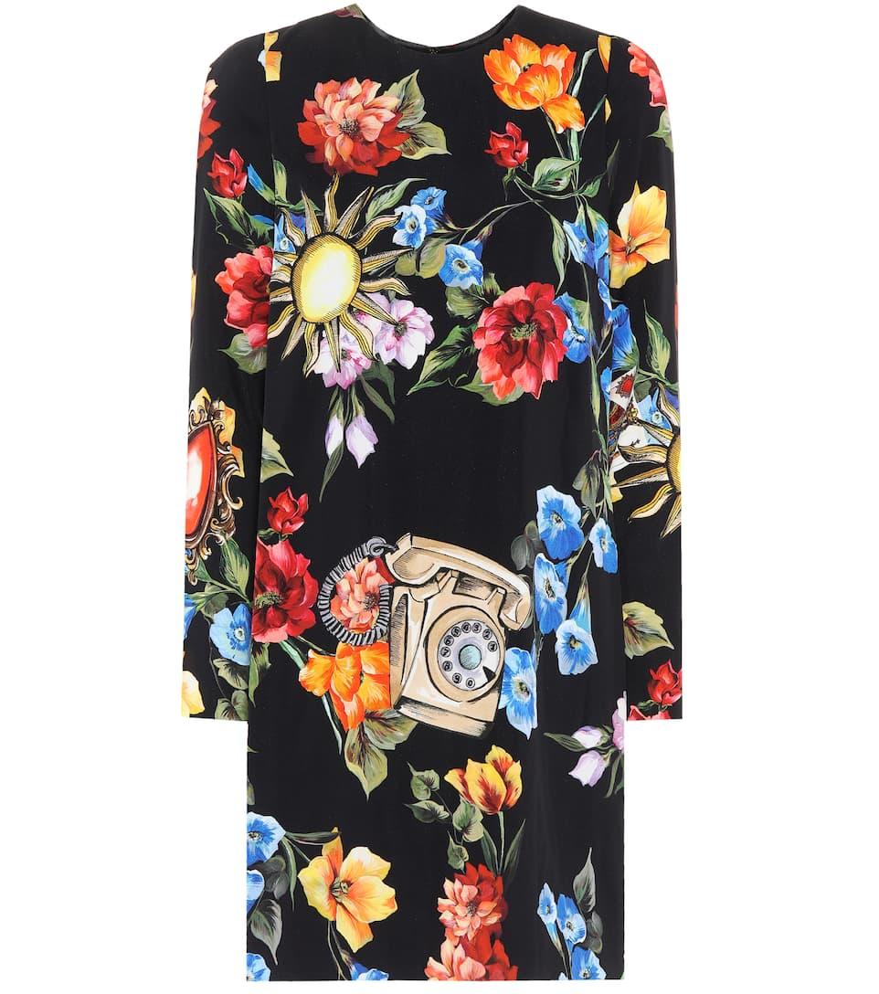 Dolce & Gabbana Bedrucktes Kleid aus Crêpe