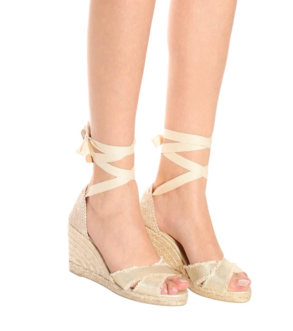 Kostengünstig Schnelle Lieferung Online Castañer Espadrille-Sandalen mit Keilabsatz z1LiRKC