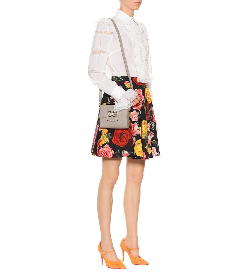 Dolce & Gabbana Bedruckter Minirock aus Stretch-Baumwolle