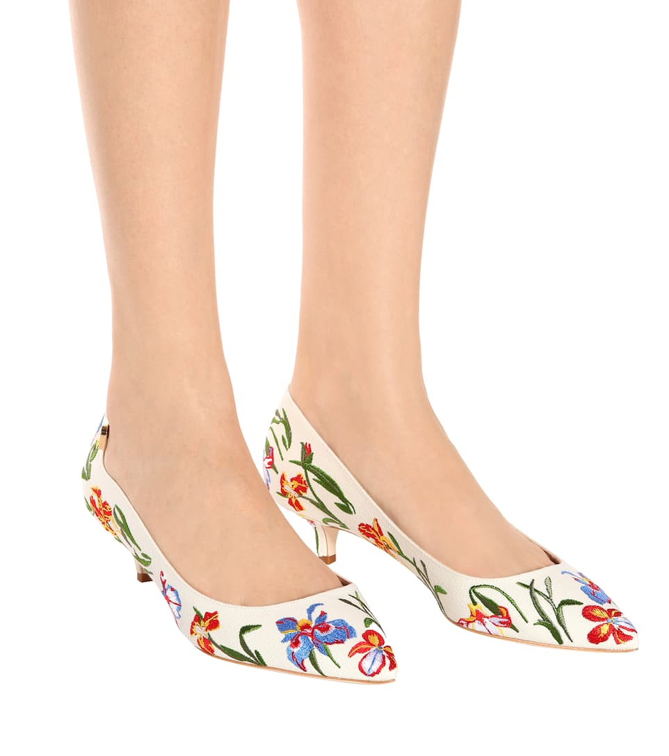 Tory Burch Verzierte Pumps Elizabeth 40 aus Canvas