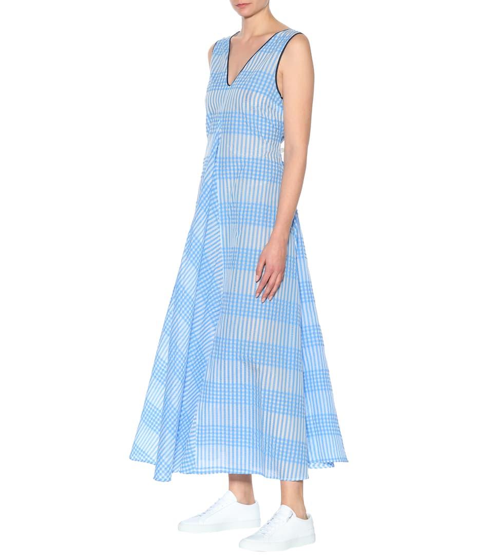 5542966c Charron Gingham Cotton-Blend Dress - Ganni | mytheresa