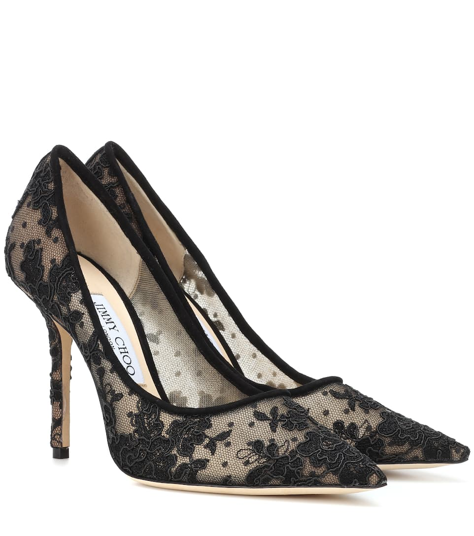 Love 100 Lace Pumps by Jimmy Choo