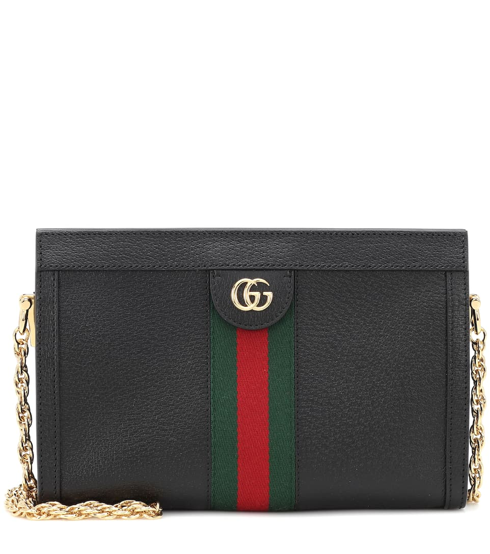 81ff83a0a7 Ophidia Small Leather Shoulder Bag - Gucci | Mytheresa