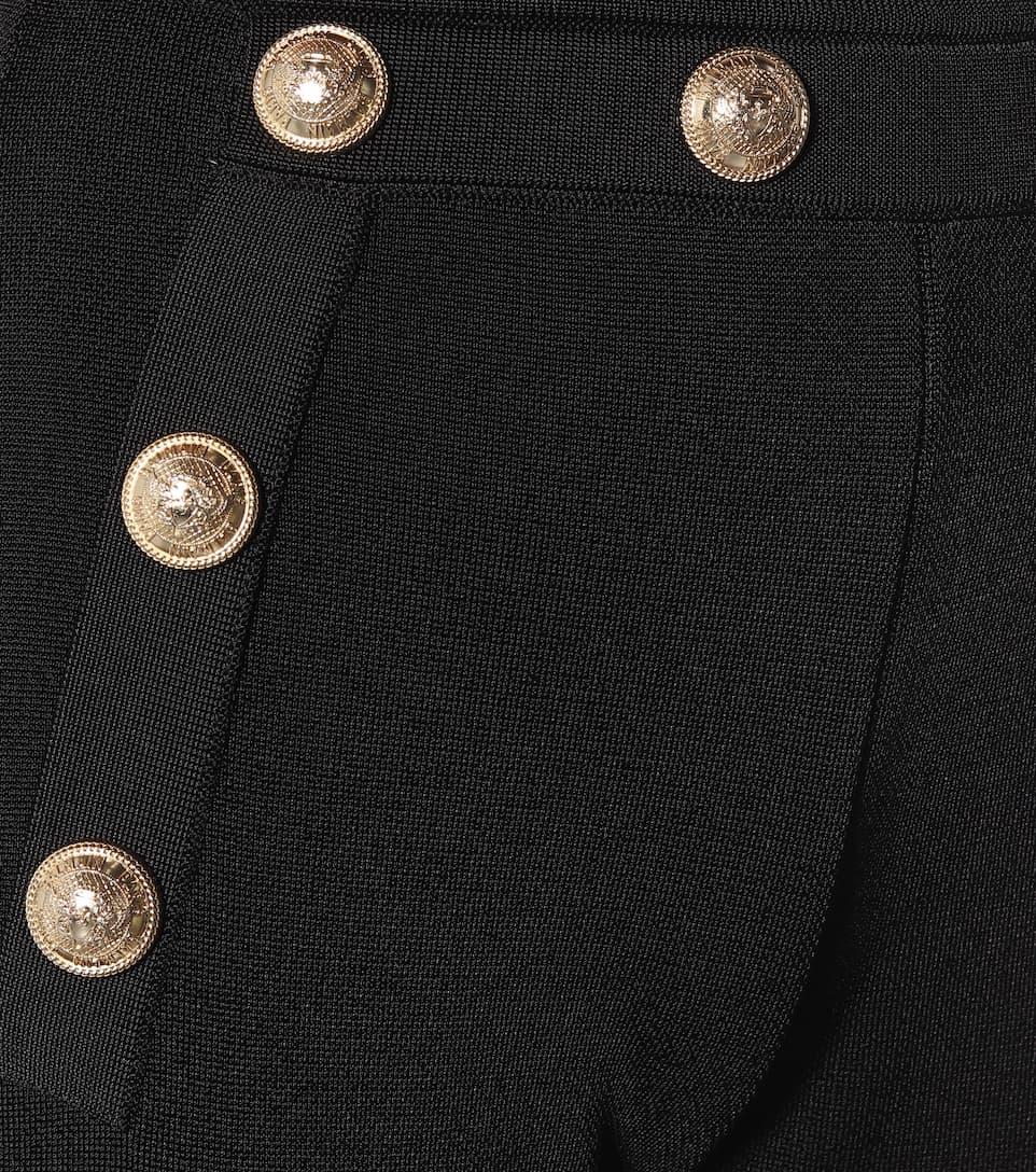 Balmain - High-rise flared knit pants