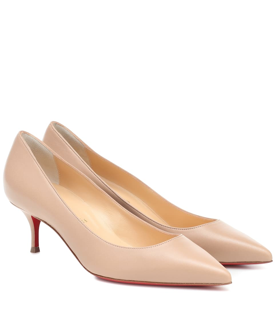 louboutin chaussures beige