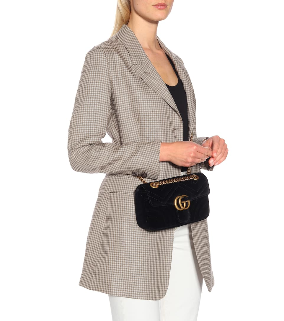 0c4ab6916383d Gg Marmont Mini Velvet Crossbody Bag - Gucci