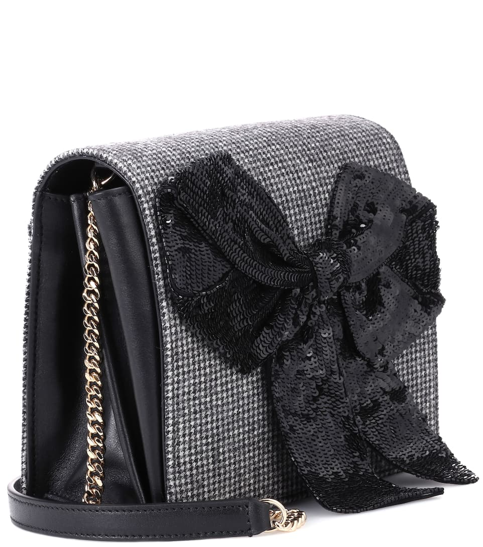 Exclusive to mytheresa.com - embellished leather shoulder bag Rochas Cheapest Price Cheap Price Order For Sale Choice Sale Online New Genuine Cheap Price FnkqILqrWn