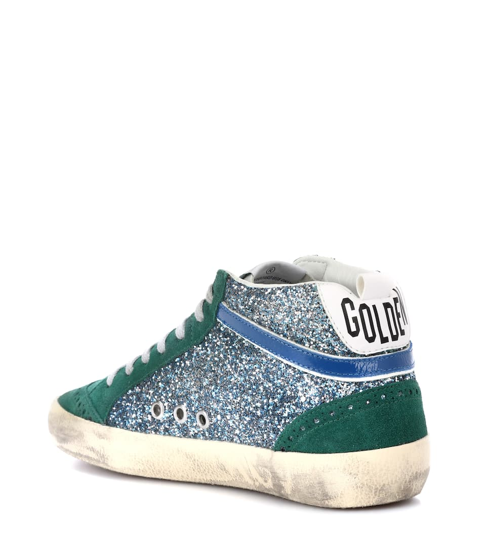 Réduction De La France Baskets En Daim À Paillettes Mid Star - Golden Goose Deluxe Brand Réel Pas Cher En Ligne P1wvWGs