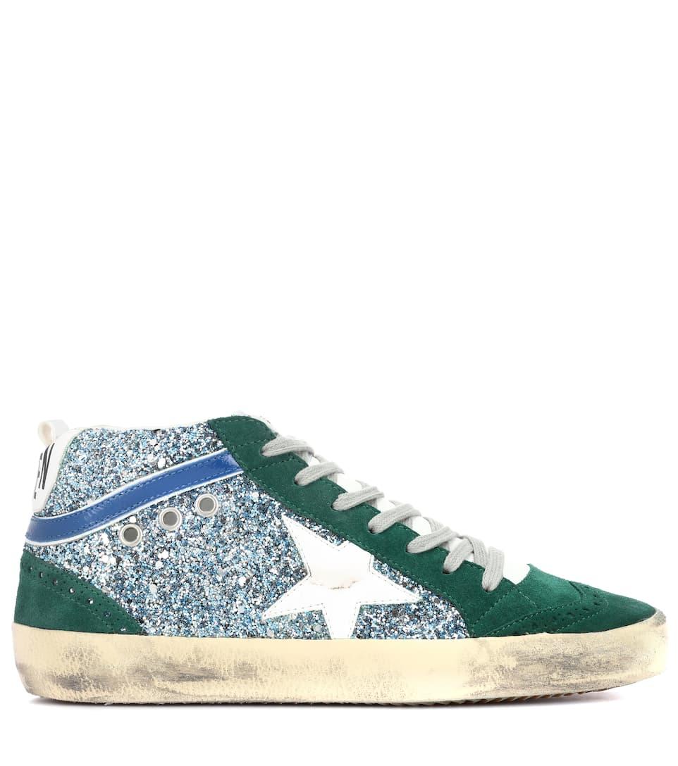 Golden Goose Deluxe Brand Sneakers Mid Star aus Veloursleder