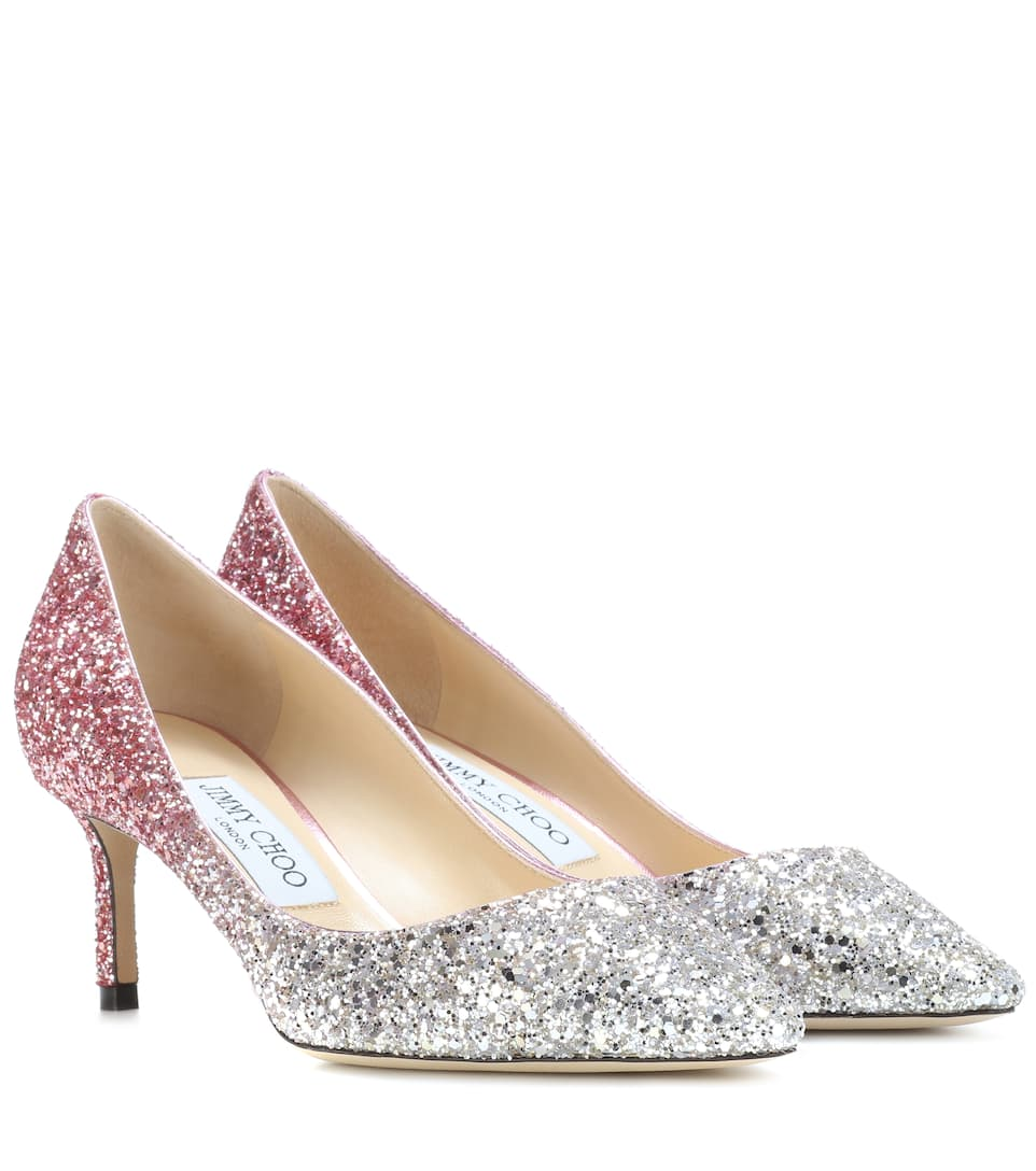 fb0e1749d7a Jimmy Choo - Romy 60 glitter pumps