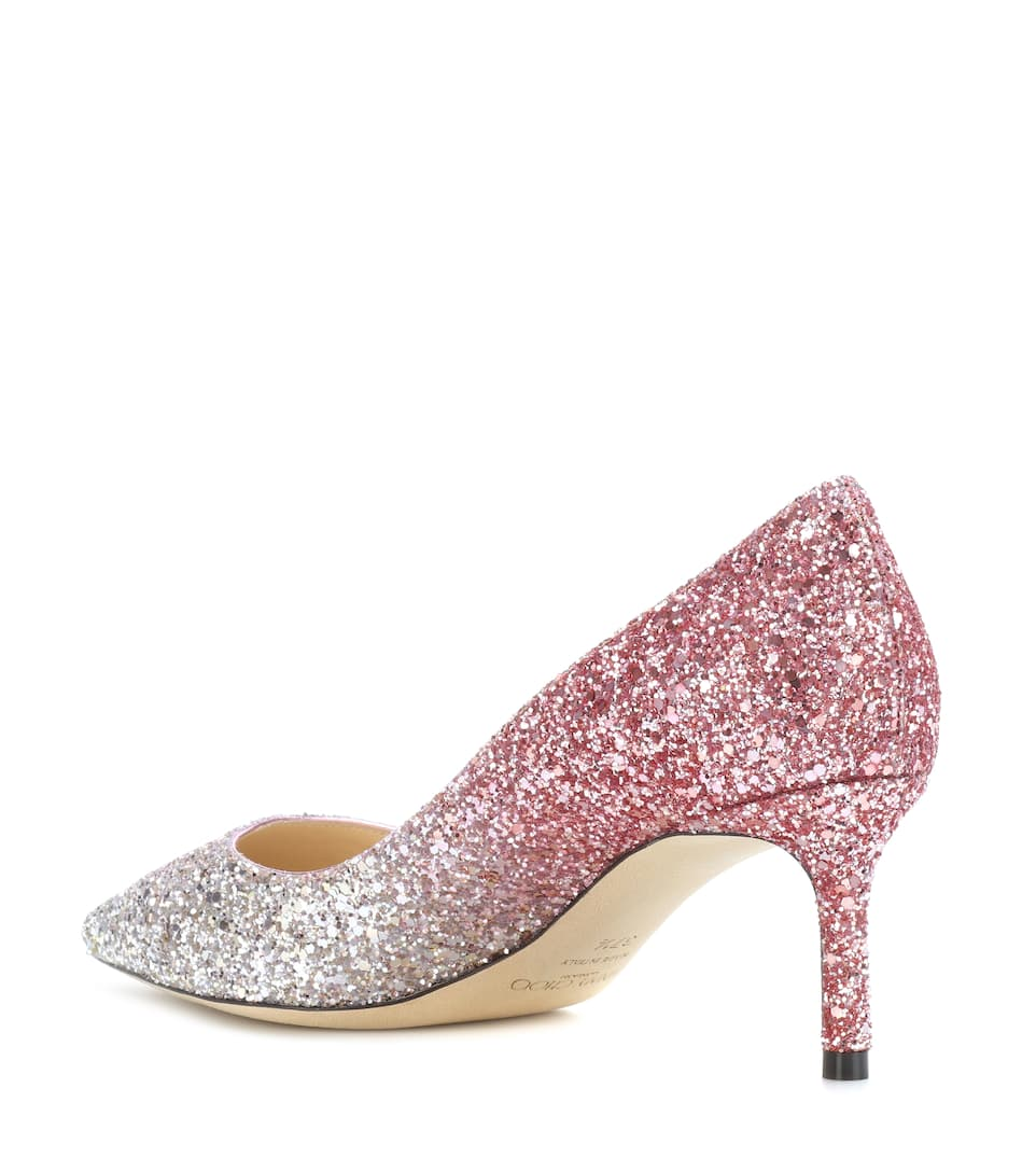 Outlet For Cheap Jimmy Choo Romy 60 glitter pumps Platinum/Flamingo Free Shipping Prices FGpfVx8I