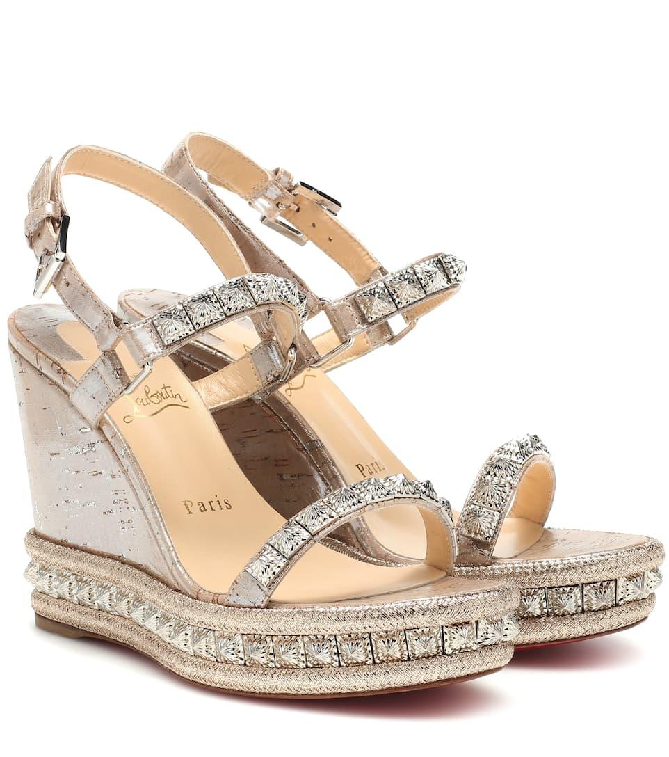 sports shoes 75711 e762d Pyradiams 100 Wedge Sandals | Christian Louboutin - Mytheresa