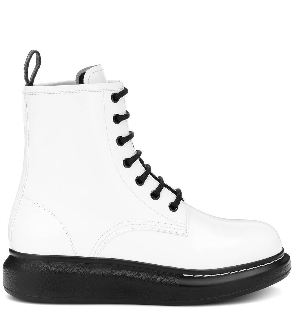 Leder Boots Alexander McqueenArt Ankle Aus nrnbsp;p00397796 N08nmwv
