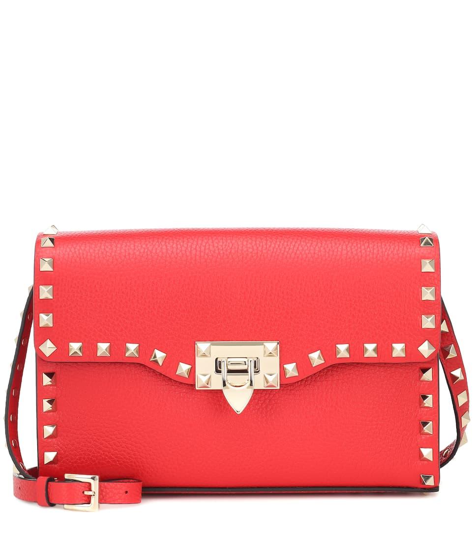 993e842f30 Valentino Garavani Rockstud Small Leather Shoulder Bag - Valentino |  Mytheresa