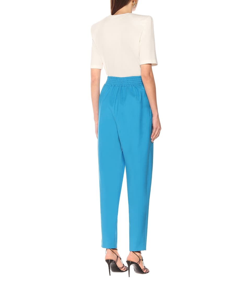 The Attico - Stretch-cotton high-rise pants