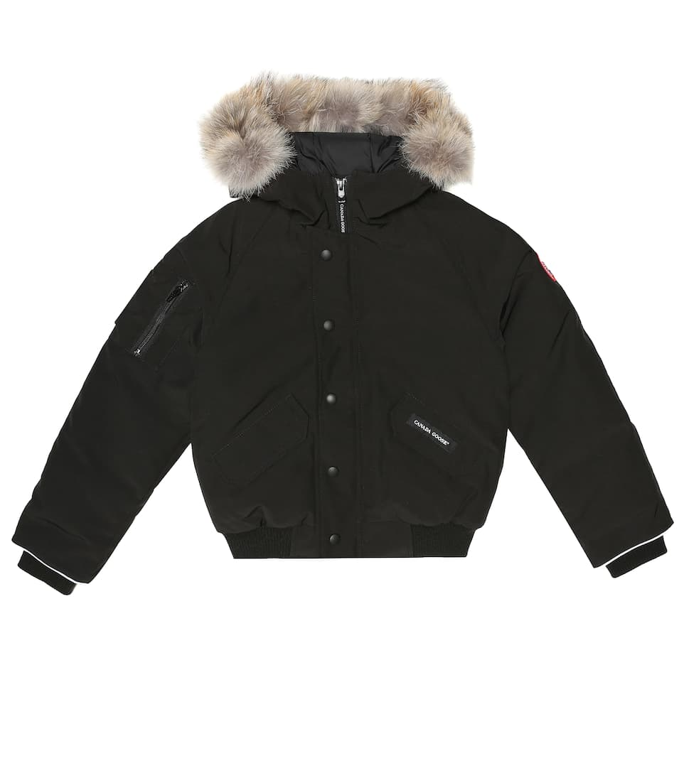 Canada Goose | Black Rundle Down Bomber Jacket Boys