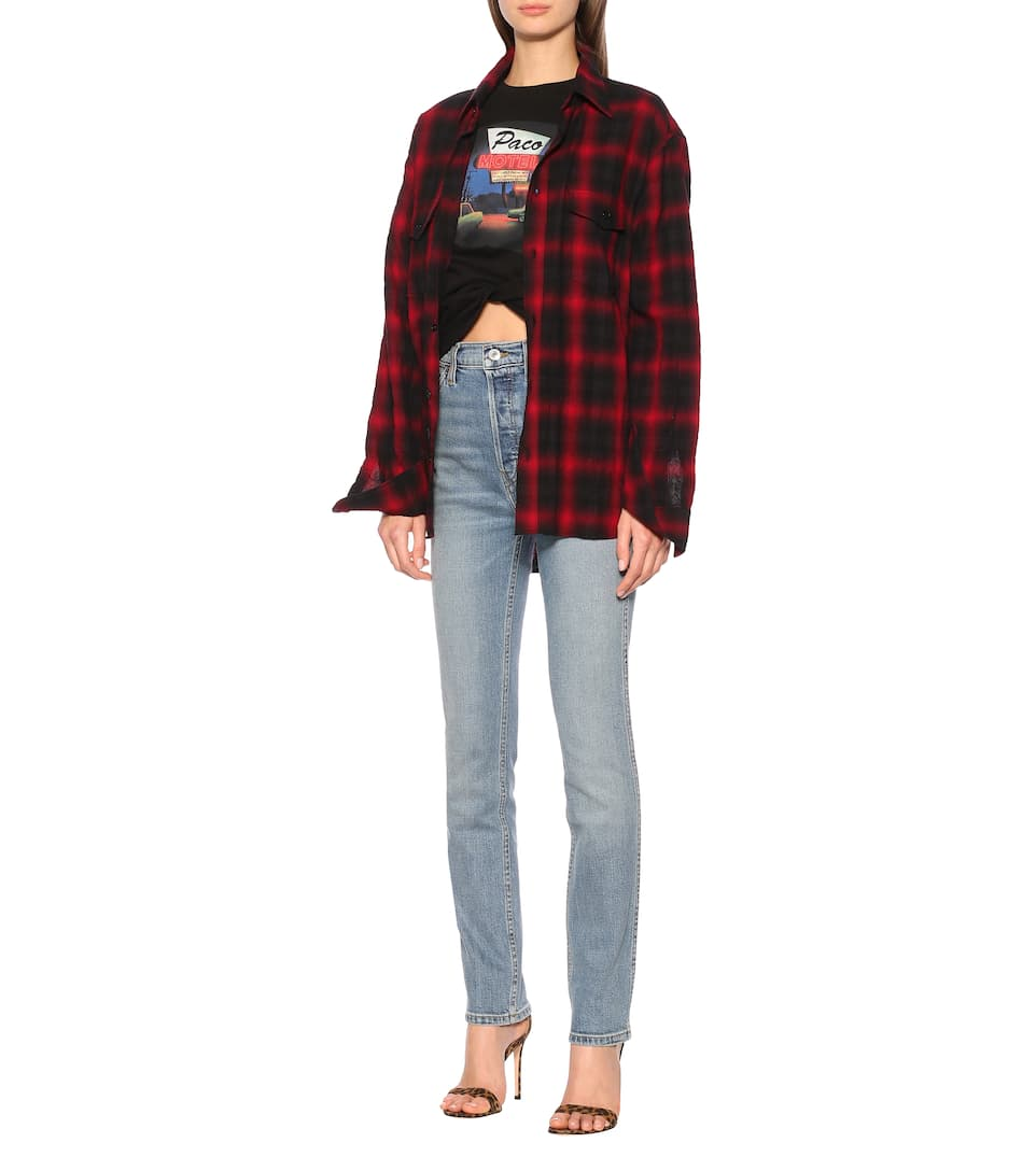 Re/Done - Double Needle high-rise slim jeans