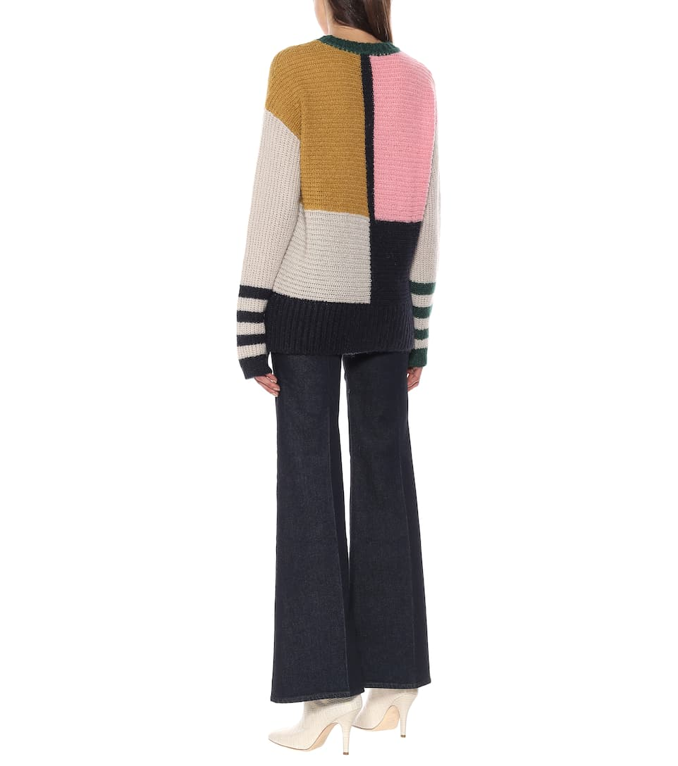 AlexaChung - Dora  colorblock oversized sweater
