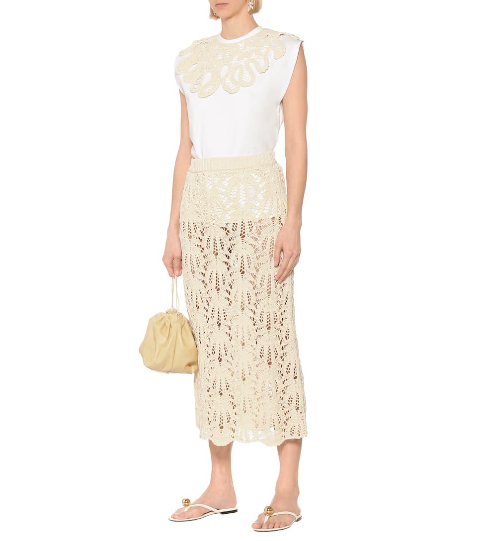 Embroidered Cotton T-Shirt - Jil Sander