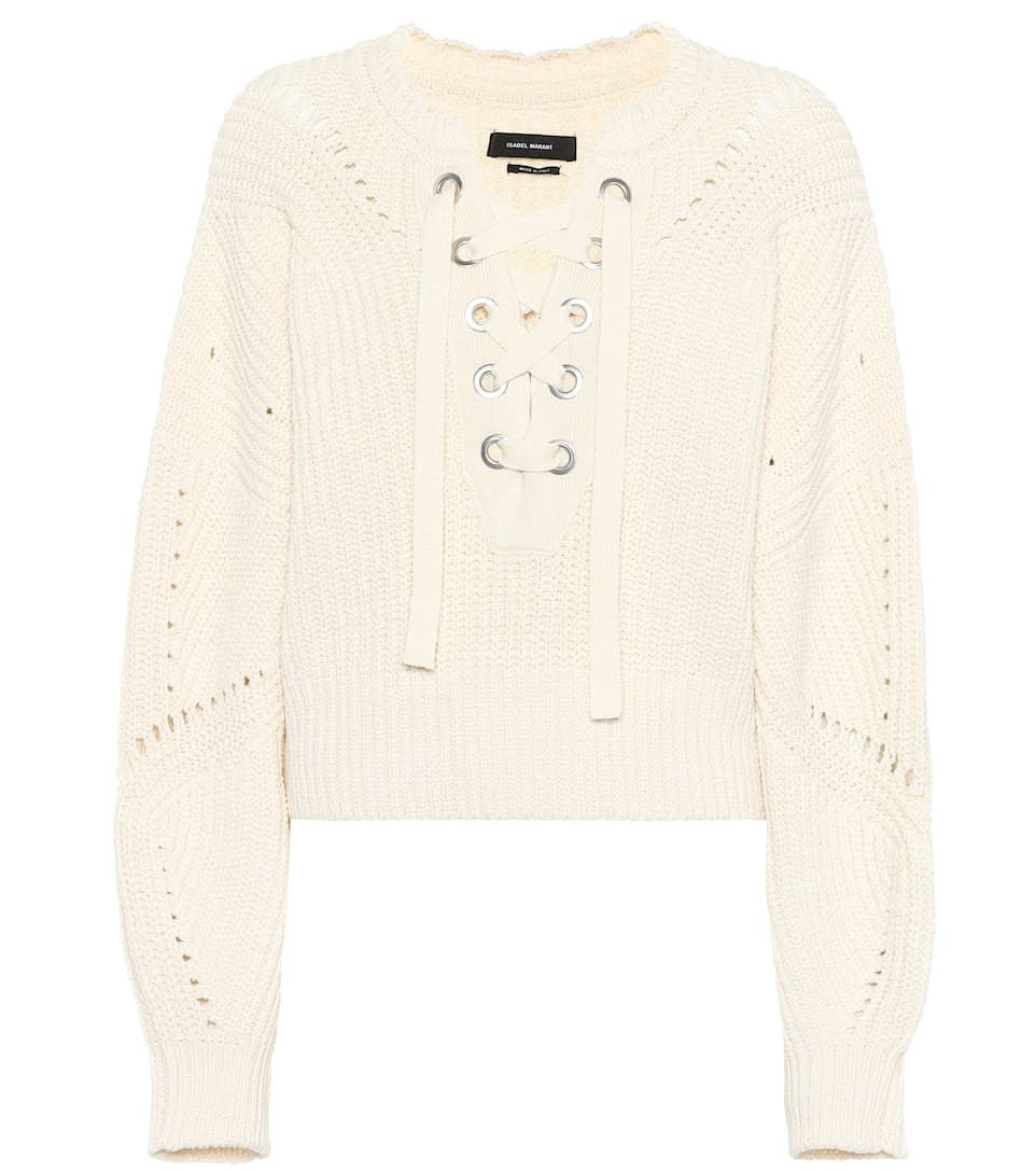 Laley Lace Up Sweater Isabel Marant Clearance Extremely Discount Ebay Red Pre Order Eastbay Buy Cheap Best s3CVLccI