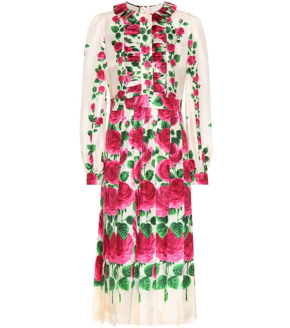 nrICiV8COI - Robe en soie à ornements