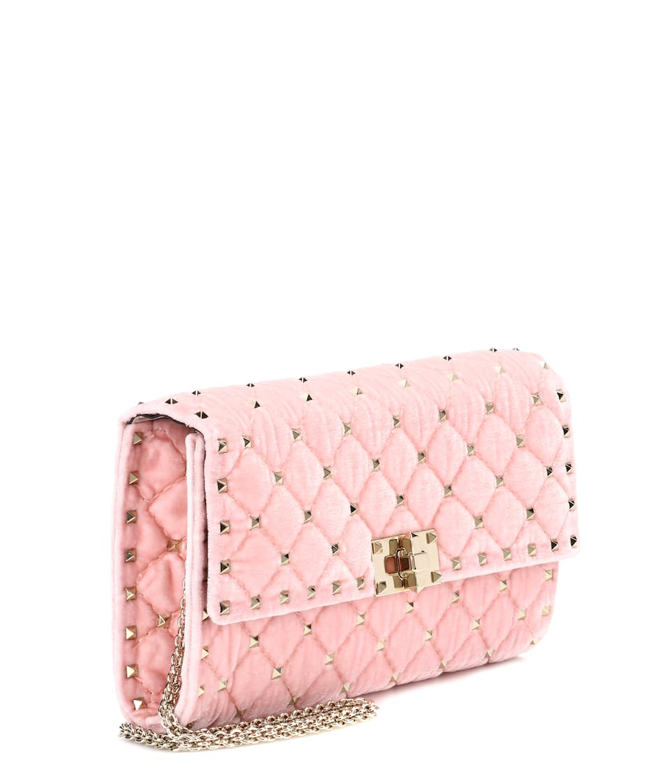 Valentino Garavani - Sac cross-body en velours Rockstud Spike