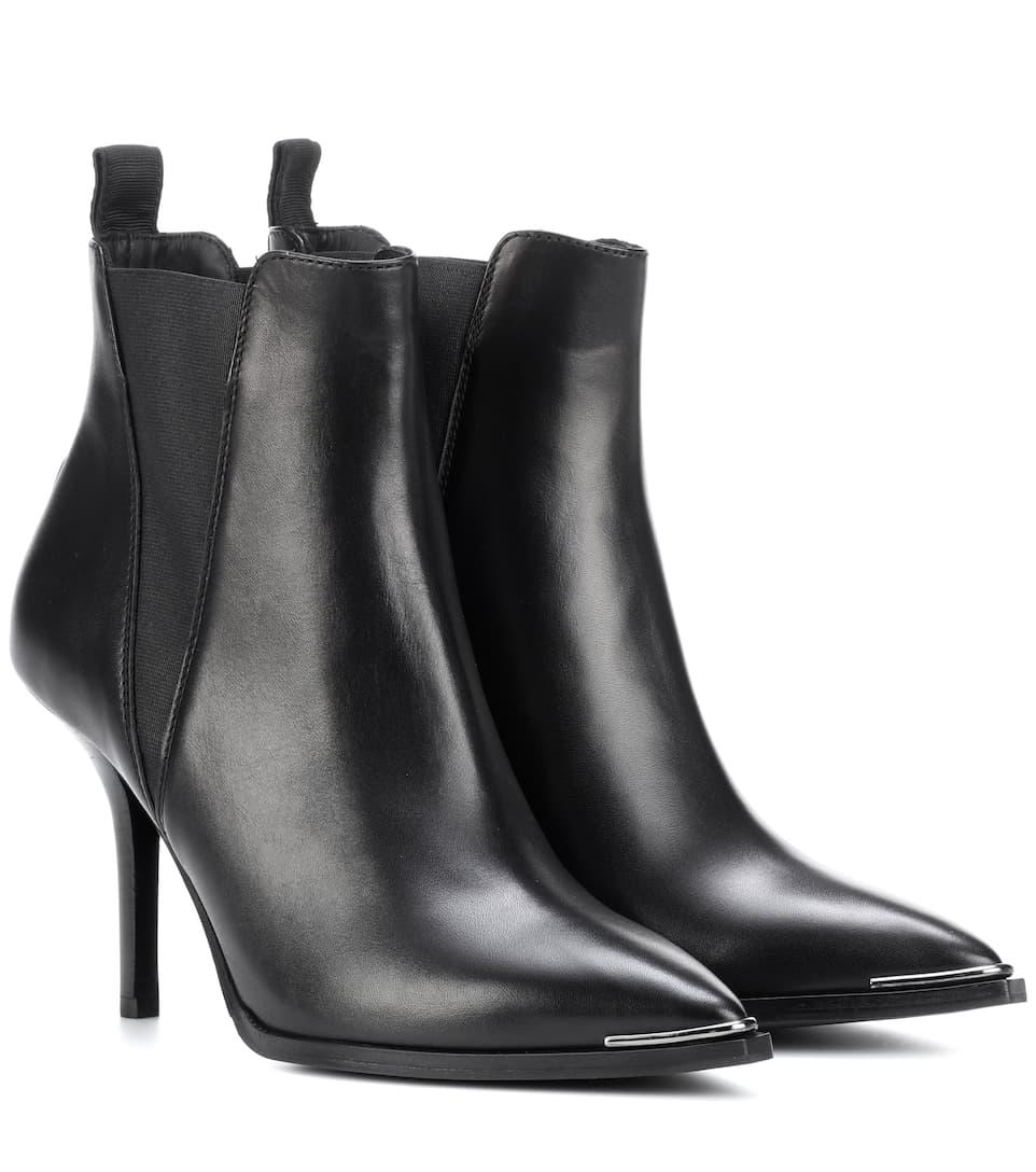 2018 Unisex Online Acne Studios Ankle Boots Jemma aus Leder Kostengünstige Online DggUb