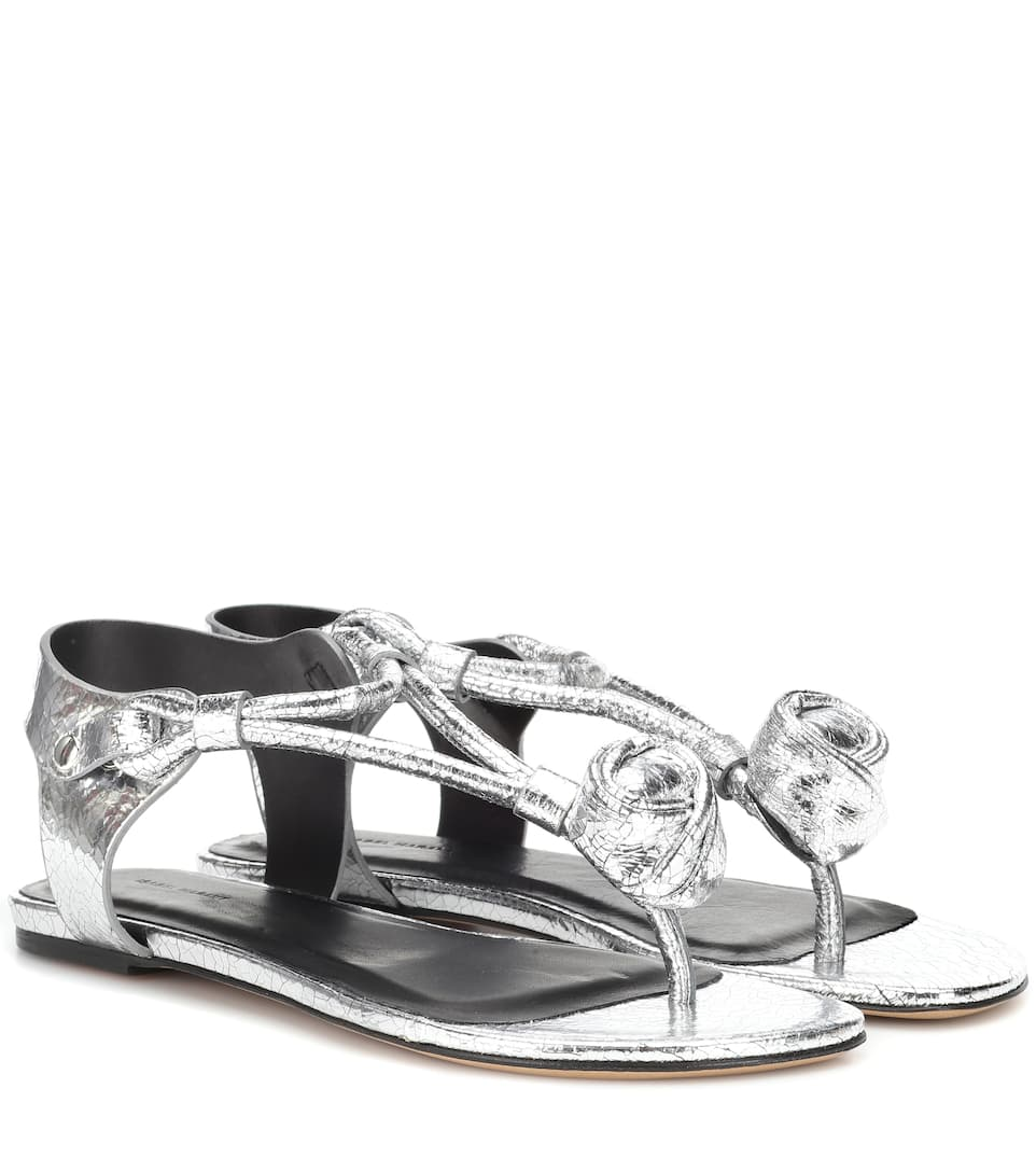 Fake Cheap Price Store Jarley metallic leather sandals Isabel Marant Free Shipping Discounts HprcmQ
