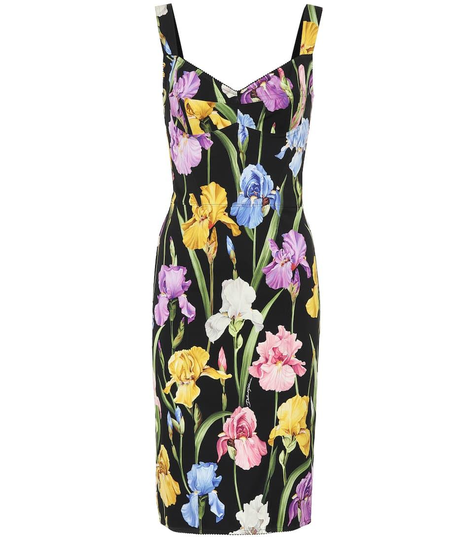 Dolce & Gabbana - Floral stretch silk-blend dress
