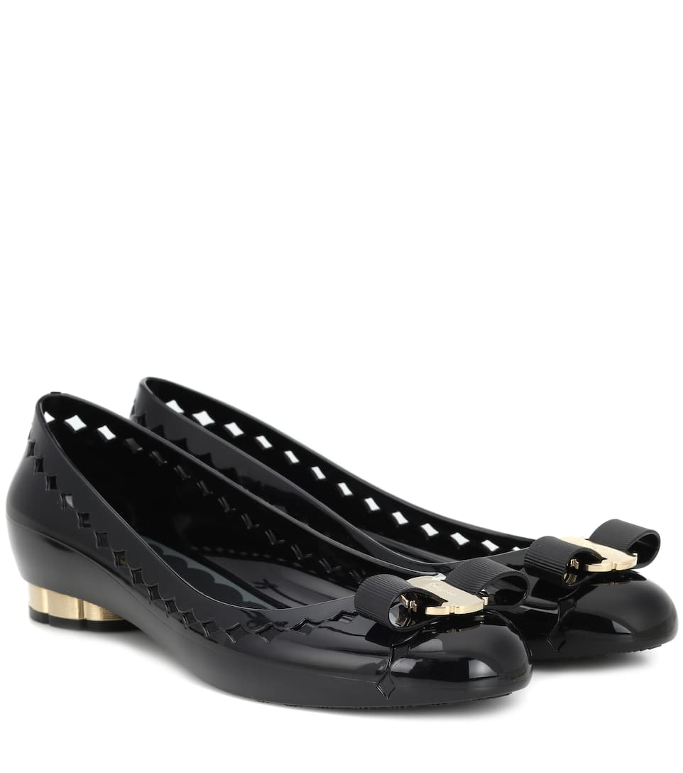 73cd56ce70591 Vara Bow Jelly Ballet Flats