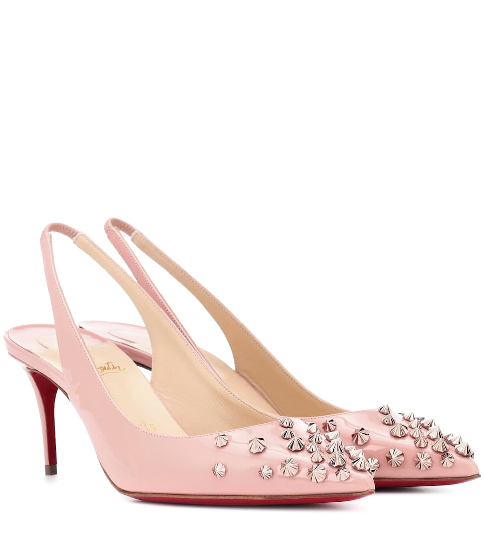 Pumps Drama Sling 70 Aus Lackleder by Christian Louboutin