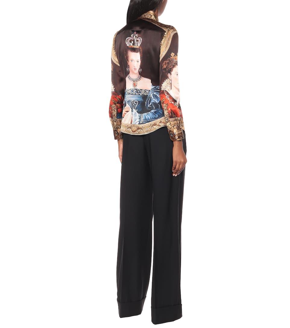 A Camicia In Dolceamp; Gabbana Seta Stampa gvY6bI7yf