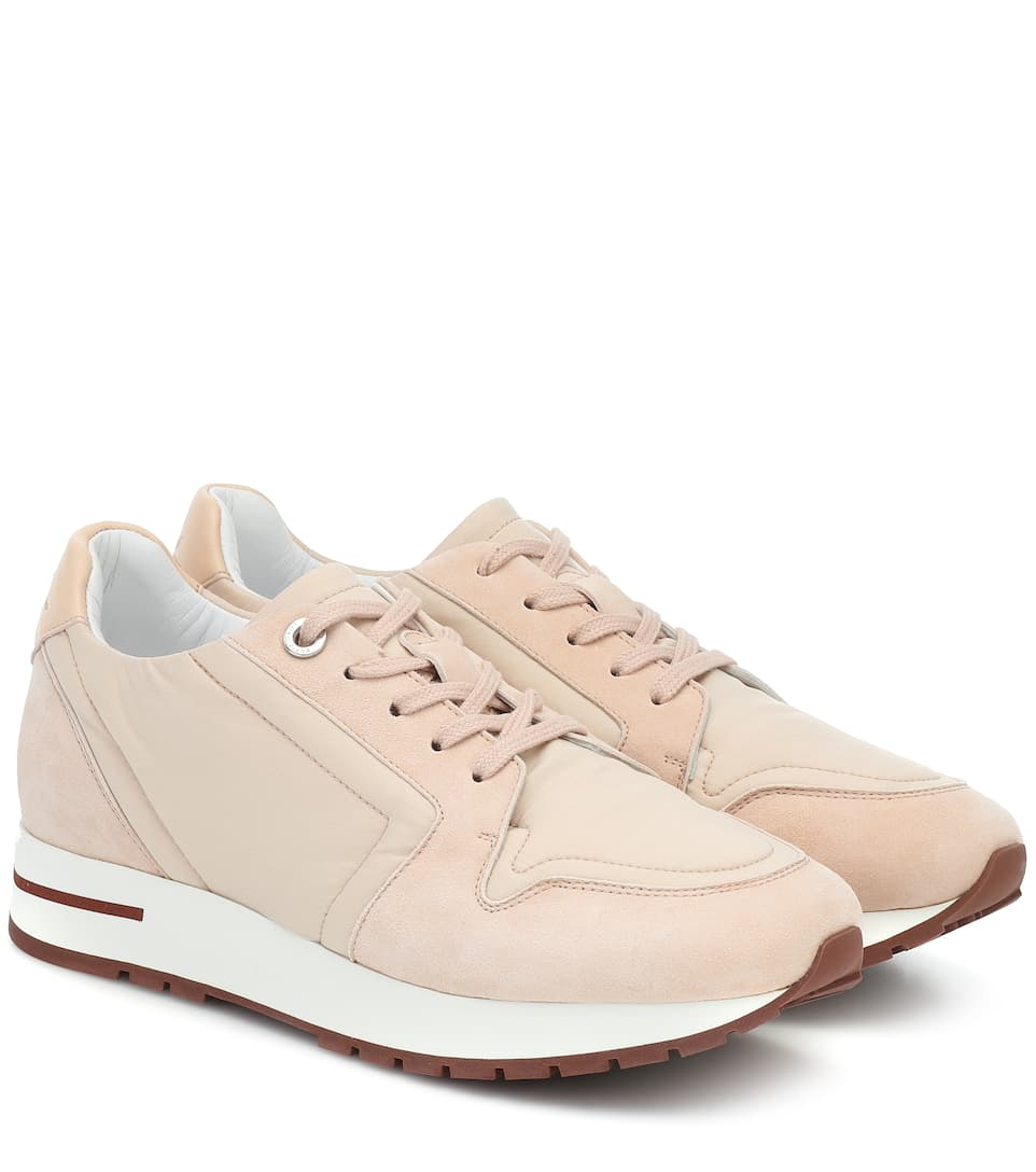 My Wind suede trimmed sneakers tgZc7