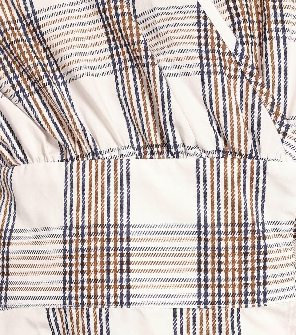 Baum und Pferdgarten - Mianne checked cotton wrap top