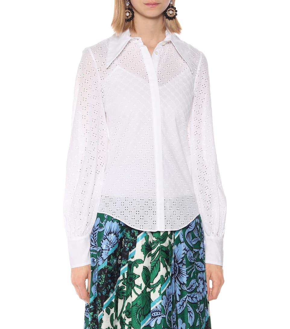 Eula Broderie Anglaise Cotton Shirt | Erdem - Mytheresa