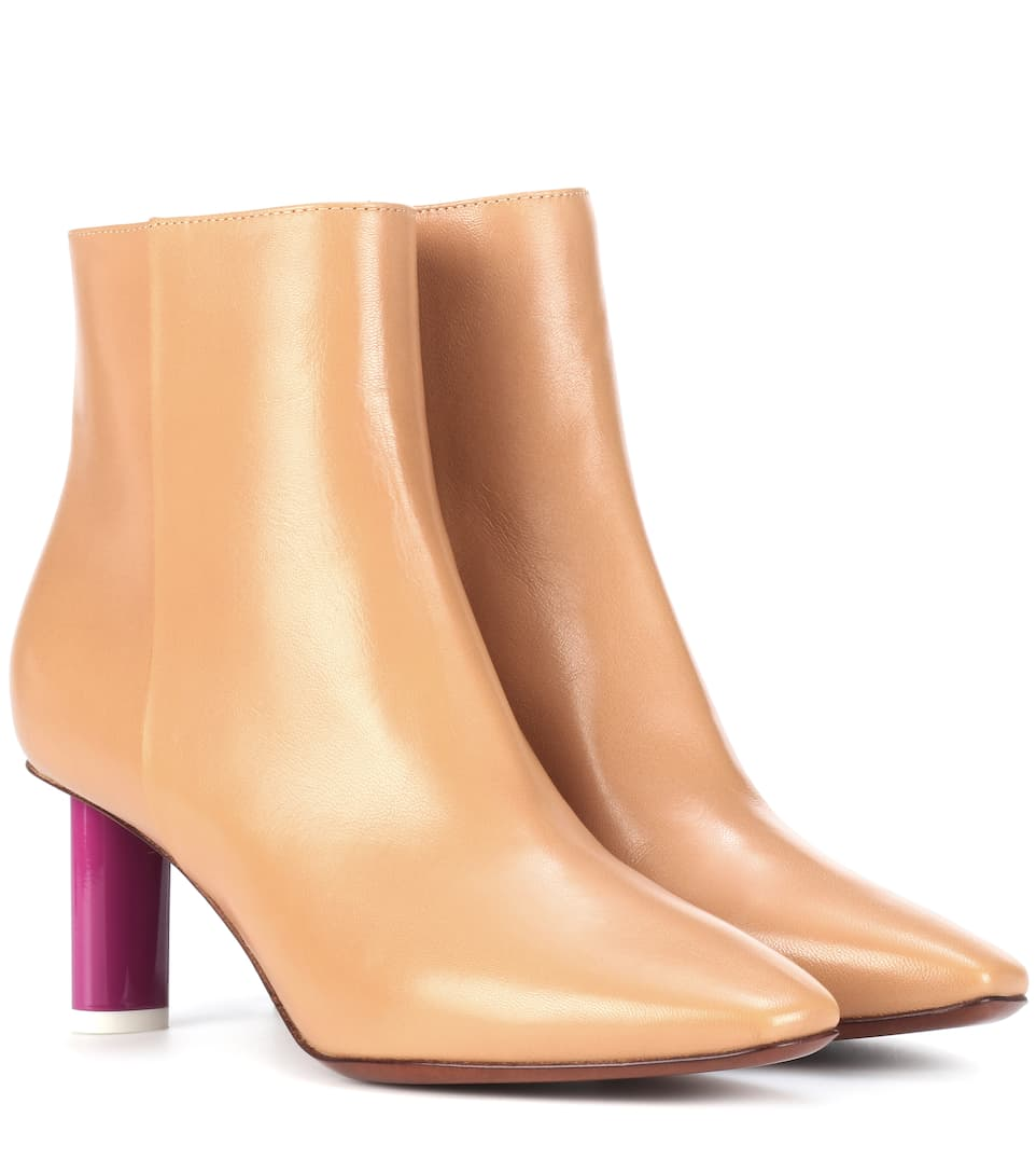 Vetements Ankle Boots aus Leder