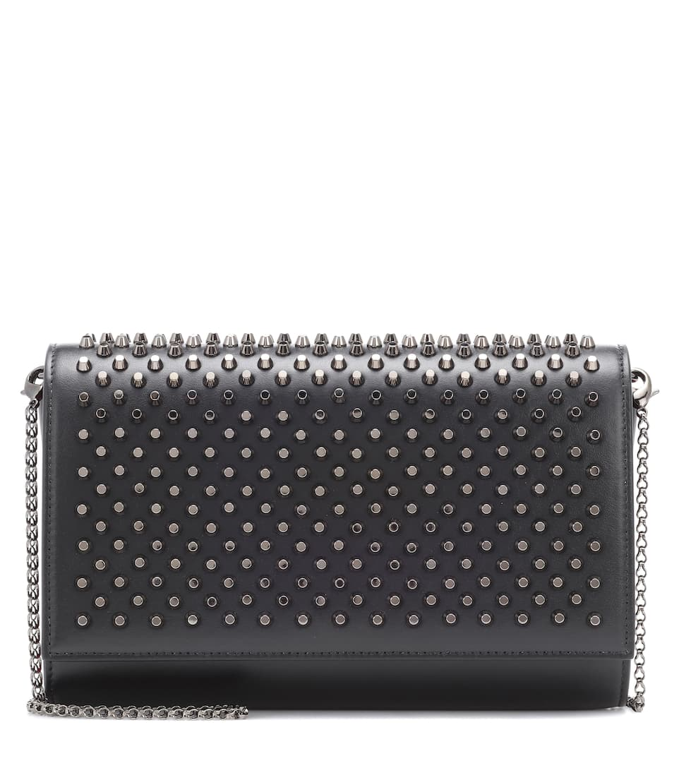 Paloma Embellished Leather Clutch by Christian Louboutin