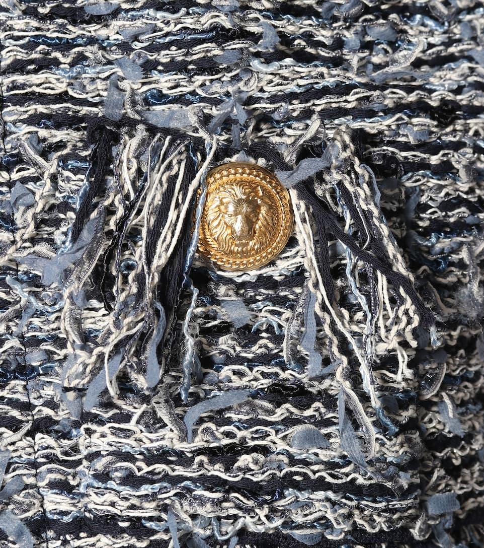 Balmain Distressed Jacke aus Tweed