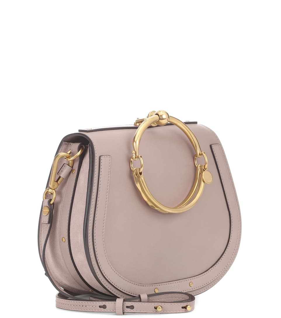Medium cuero Nile de Motty Chloé Grey Bolso Z0qt5wW8