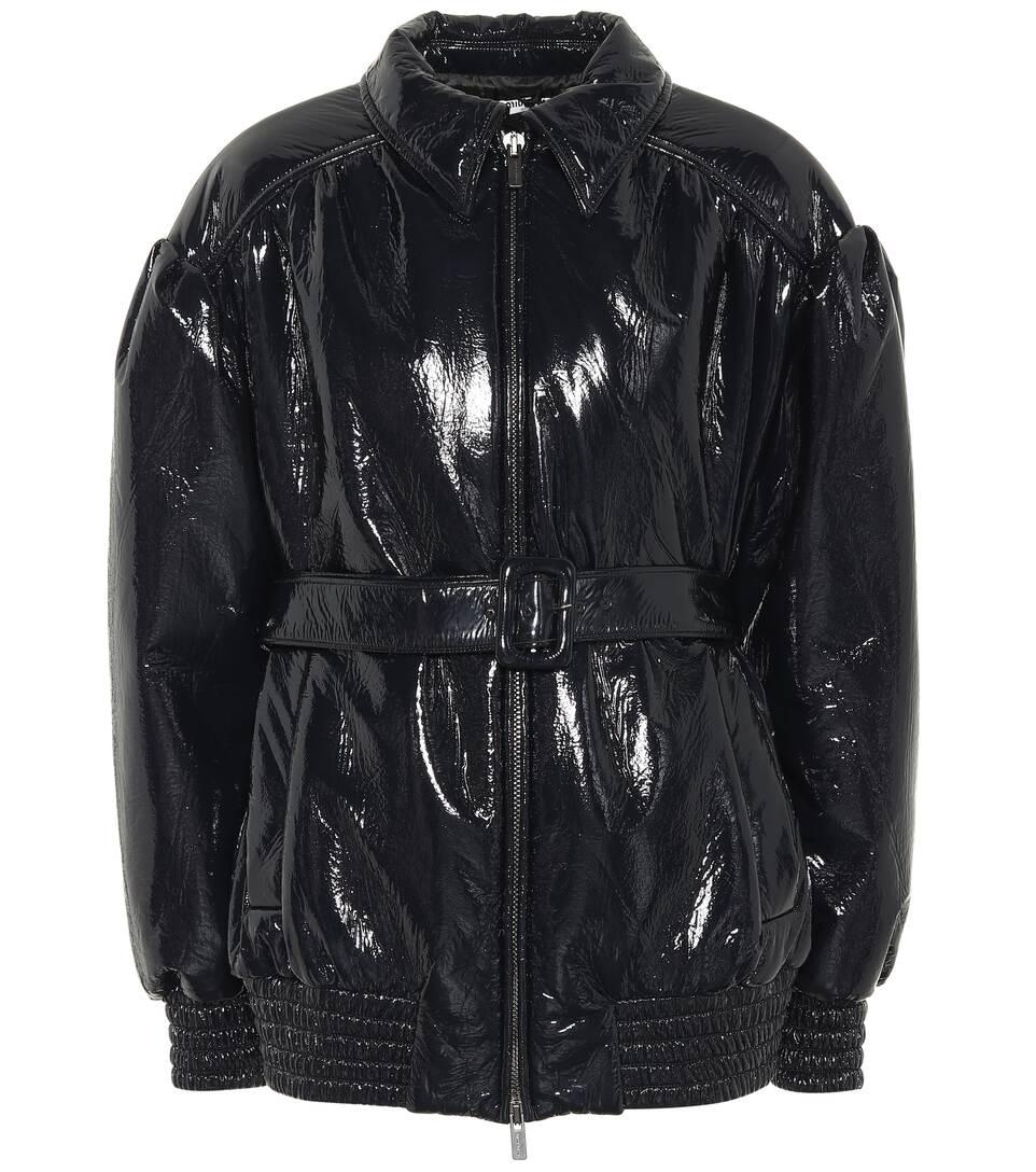 441df38ff973 Belted Faux Leather Jacket - Miu Miu   mytheresa.com