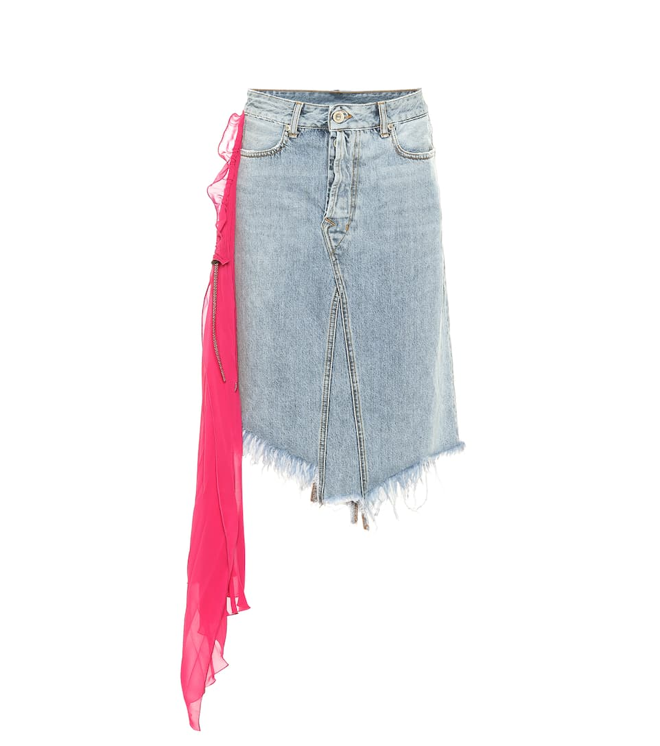 Ben Taverniti Unravel Project EMBELLISHED DENIM SKIRT