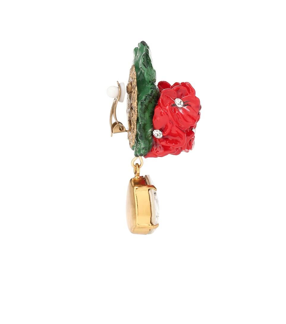 Résine Gabbana Boucles Cristaux Clip En À Swarovski D'oreilles Dolceamp; WH2bE9eIYD