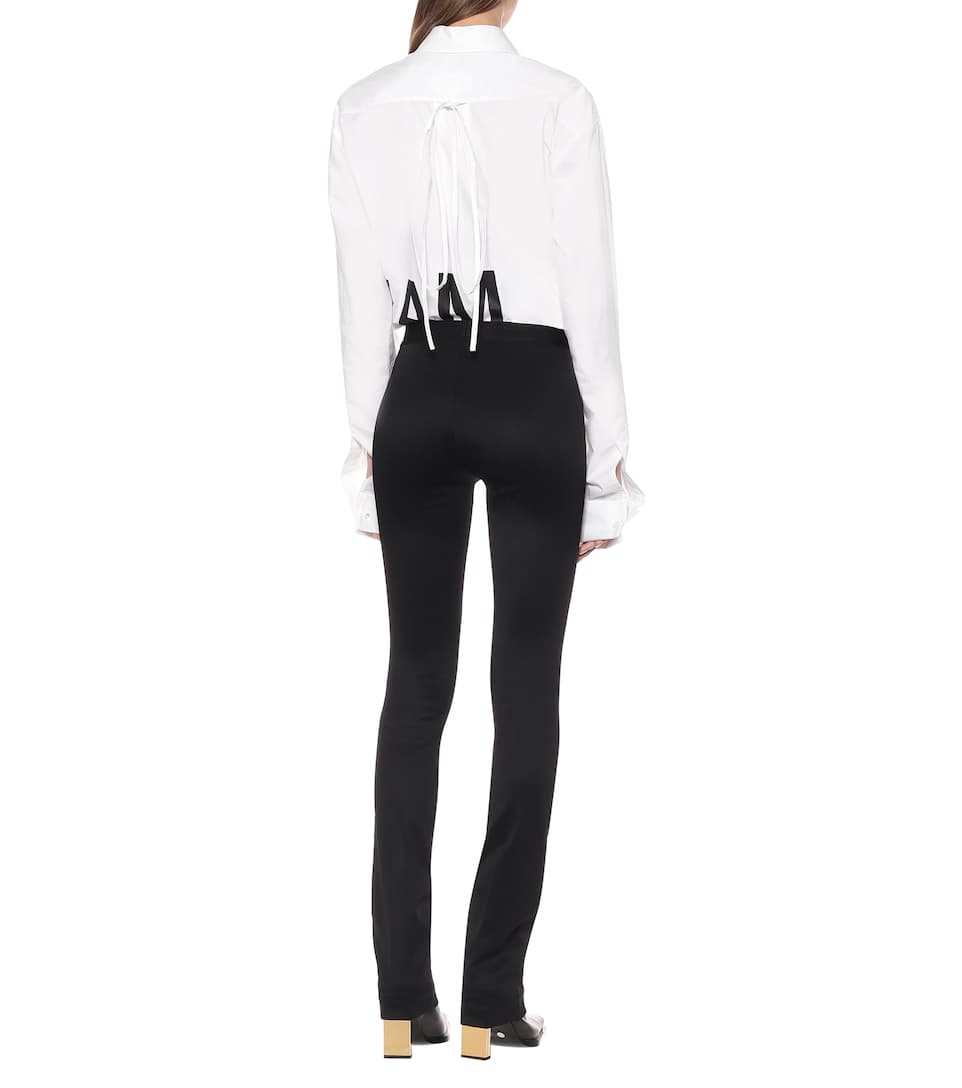 Helmut Lang - High-rise flared knit leggings