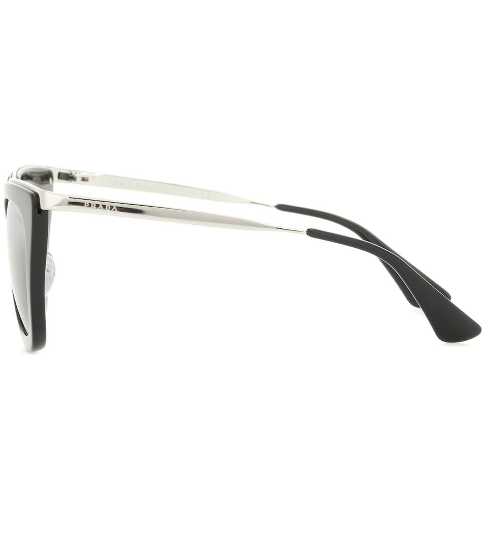 PRADA Mirrored Cat Eye Sunglasses, 52mm