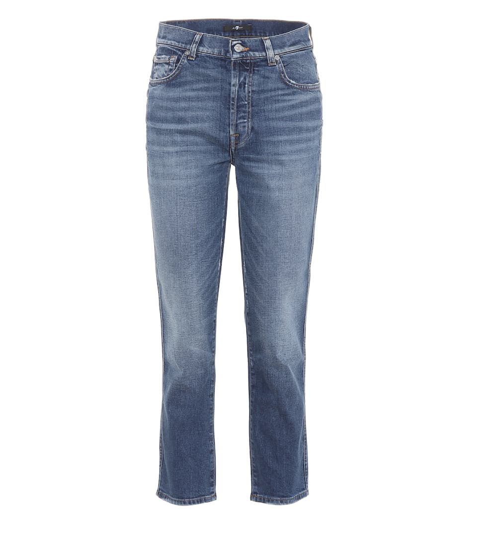 7 For All Mankind High-Rise Cropped Jeans Edie