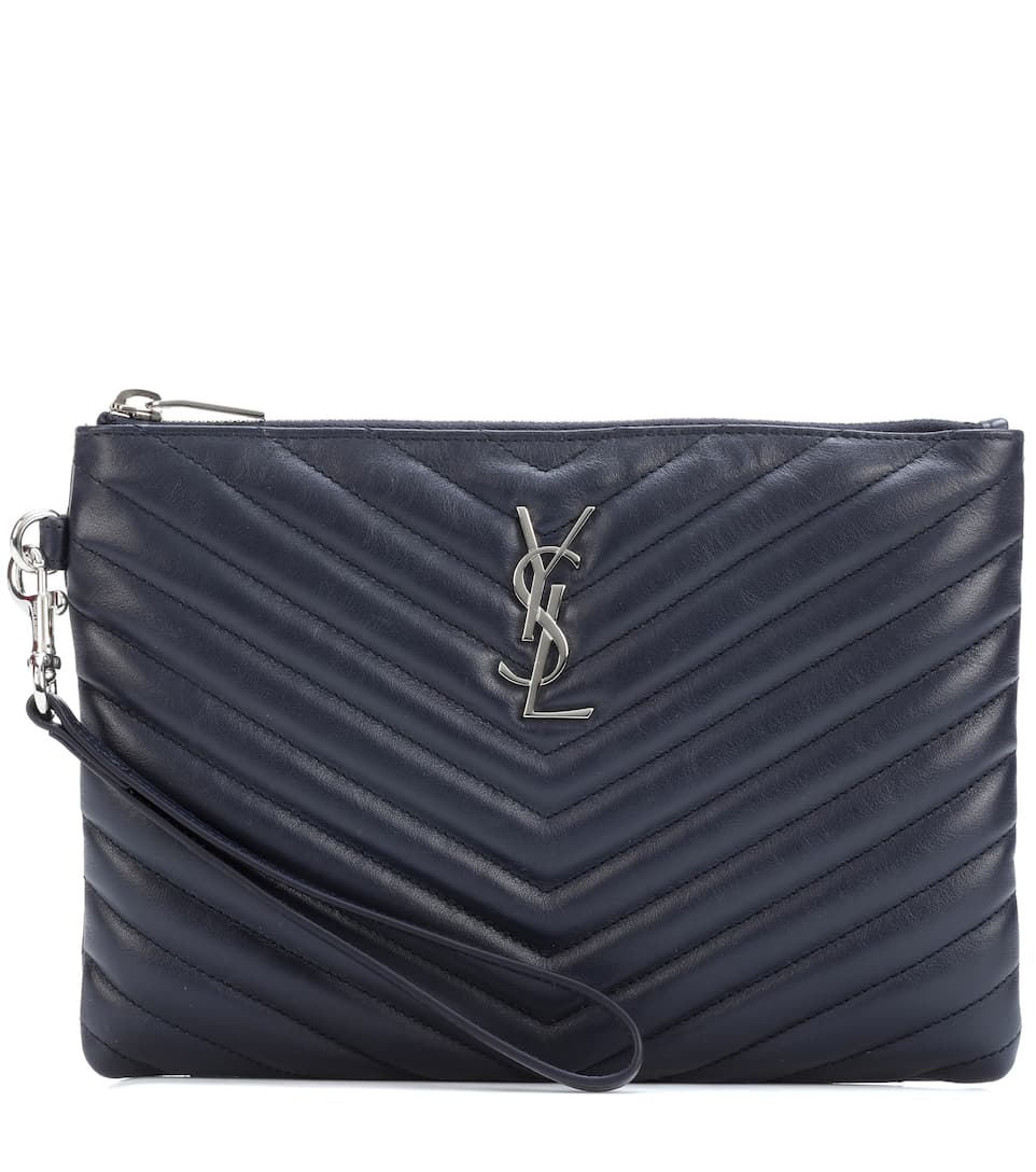 Saint Laurent Clutch Monogram aus Matelassé-Leder