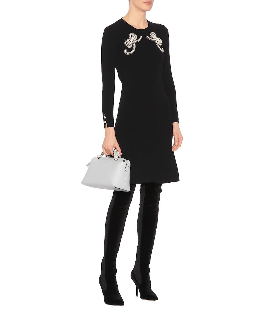 Fendi Ornate Lace Dress In Mini Length