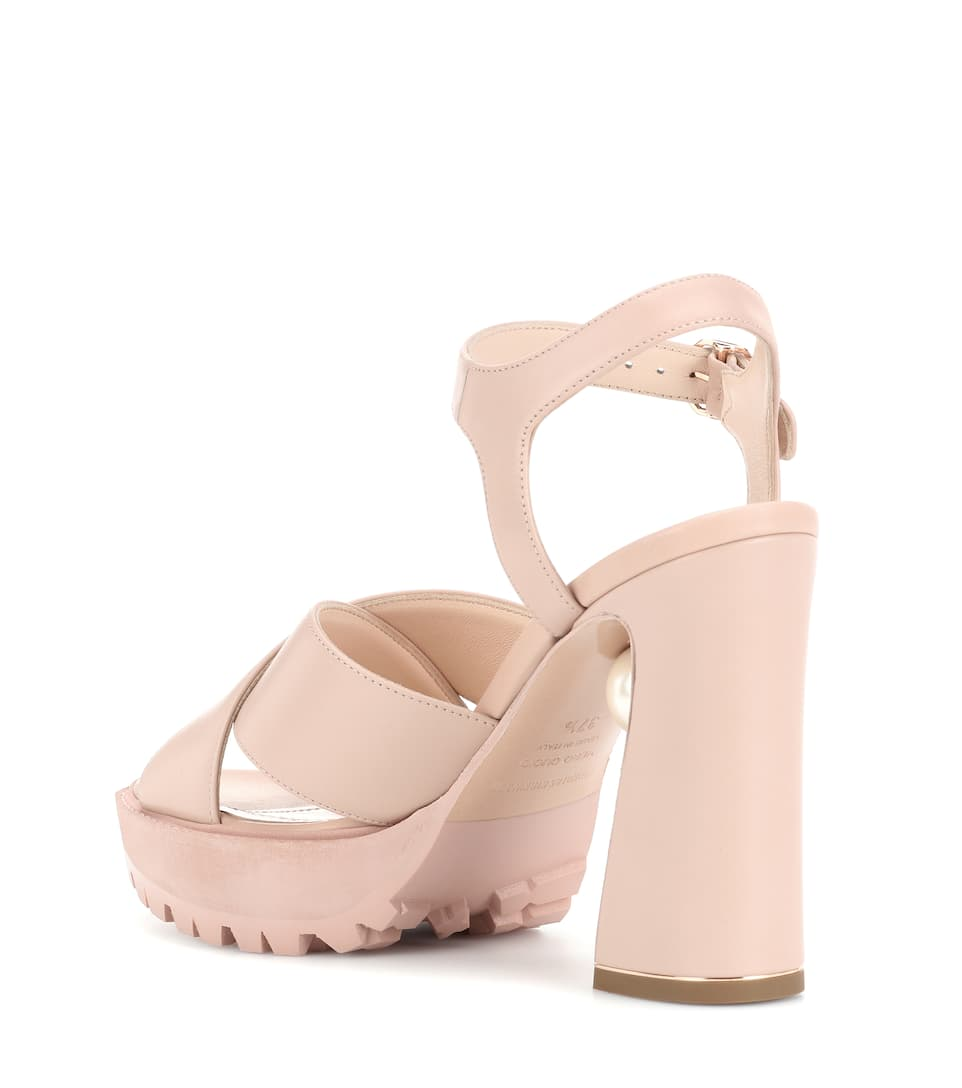 Annabel Pearl leather sandals Nicholas Kirkwood 2EDQypTEWE