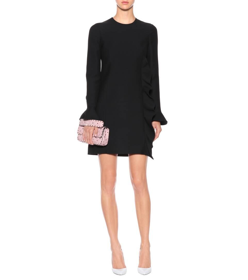 Avec Mastercard Prix Pas Cher Valentino - Robe en soie et laine vierge Sites À Vendre 4TTjOw51Yp